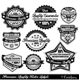 quality retro labels vector image vector image