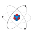 Atom cartoon icon vector image