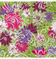 Seamless floral green pattern vector image vector image