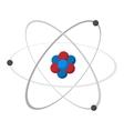 Atom cartoon icon vector image