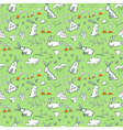 background with bunnies vector image