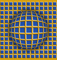 checkered ball rolling along the checkered surface vector image