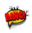 comic book text bubble advertising bang vector image