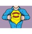 Masked comic book superhero vector image