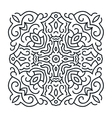 Outlines ornament trendy mandala design vector image