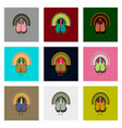 set of in flat style turkey vector image