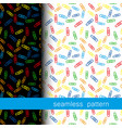 set of seamless pattern with clerical clip vector image