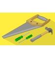 Tools isometric flat 3d vector image