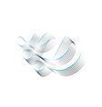 twisted shining ribbons vector image