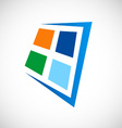 window abstract logo vector image