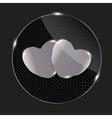 Heart glass Button vector image