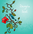Bird on the branch background vector image