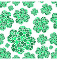 lot of various green cloverleaf for happy seamless vector image