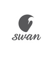 swan abstract vector image