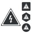 High voltage icon set monochrome vector image