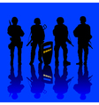 anti terror police force vector image