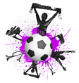 Football fans grunge vector image