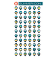 Summer pin map icon Summertime Vacation vector image