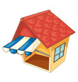 Isolated hut vector image vector image
