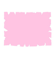 Parchment old paper banner pink vector image