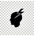 brain icon vector image