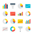 Business Analysis Graph and Chart Flat Objects Set vector image