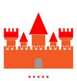 castle icon color fill style vector image