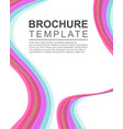 design background brochure template collection vector image
