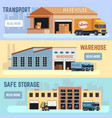 warehouse shipping transportation and delivering vector image