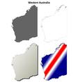 Western Australia outline map set vector image