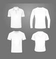 white t shirt set vector image