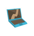blue modern laptop cartoon vector image