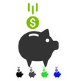 Deposit piggy bank flat icon vector image