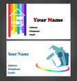 Business Card - Painter vector image