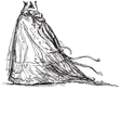 bridal dress drawing vector image