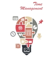 Time management infographics concept vector image
