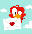 bird love card vector image vector image