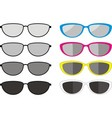 sunglasses collection vector image vector image