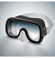 Diving goggles diving mask black vector image