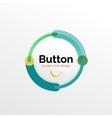 Thin line design geometric button flat vector image