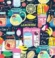 Seamless pattern of various fruit drinks vector image