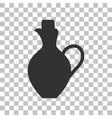 Amphora sign  Dark gray icon on vector image