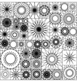 Tile seamless pattern with spirograph Mandalas in vector image vector image