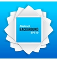 Abstract paper elements on blue background vector image