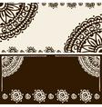 banner mehendi ornament vector image