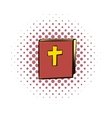 Bible comics icon vector image