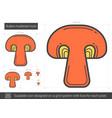 button mushroom line icon vector image