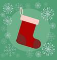 christmas sock flat vector image