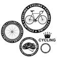 Cycling Set vector image