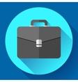 Dark Briefcase icon Flat designed style vector image